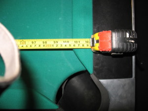 Measuring pool table playfield for pool table room dimensions.